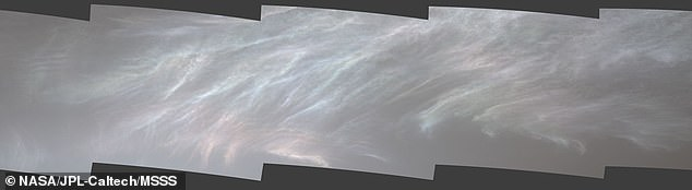 This photo is the combination of several images taken by the Curiosity rover on sol 3072, or March 28, 2021, just after sunset