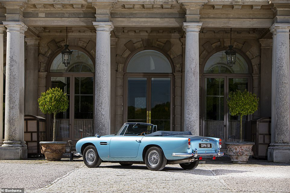 The 1964 Aston Martin DB5Carrozzeria Touring Superleggerra will go to the block at the BonhamsFestival of Speed Sale at the Goodwood event on Friday 9 July