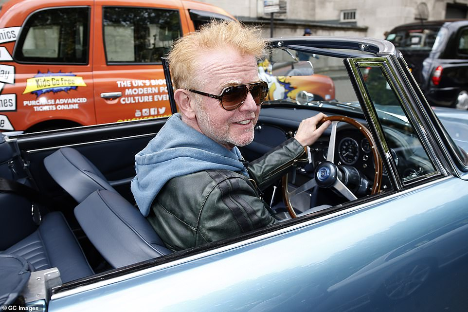 While Bonhams has not named the vendor, it says they have had the car for over a decade. Evans is pictured here in the car in 2015