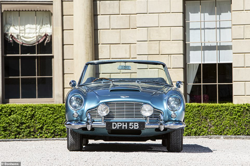 The Caribbean Pearl Blue convertible was one of only 123 soft-top variants of the iconic DB5 ever produced and was one of the fastest road cars of its day