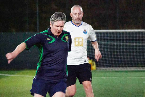 Keir Starmer said if he met Boris Johnson on the pitch he would 'knock him over'