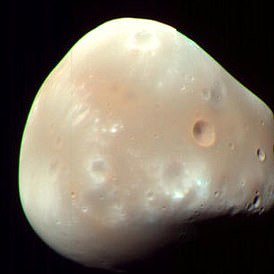 Deimos has an odd shape and more in common with an asteroid