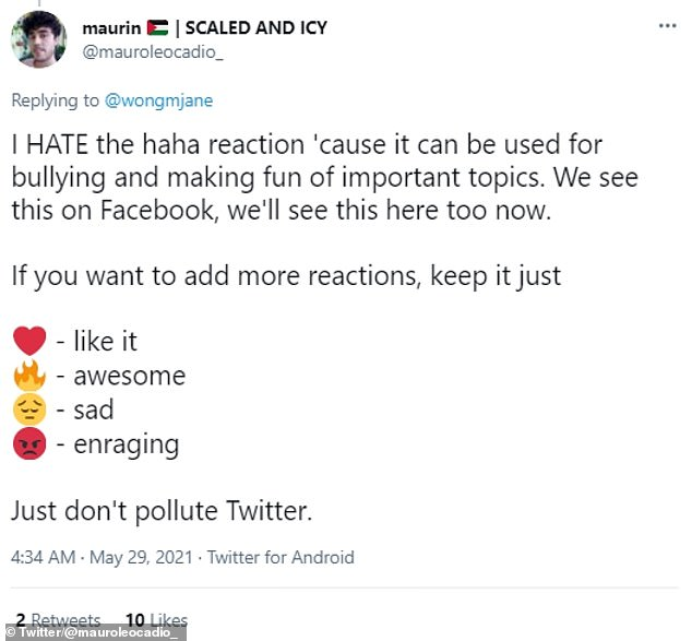 User reactions to the idea of Facebook-style reaction emojis on Twitter was generally negative