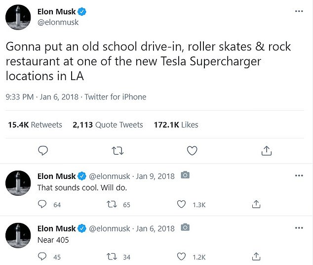 At the time, he added it would be near route 405. The company did eventually apply for building permits near the Santa Monica Supercharger