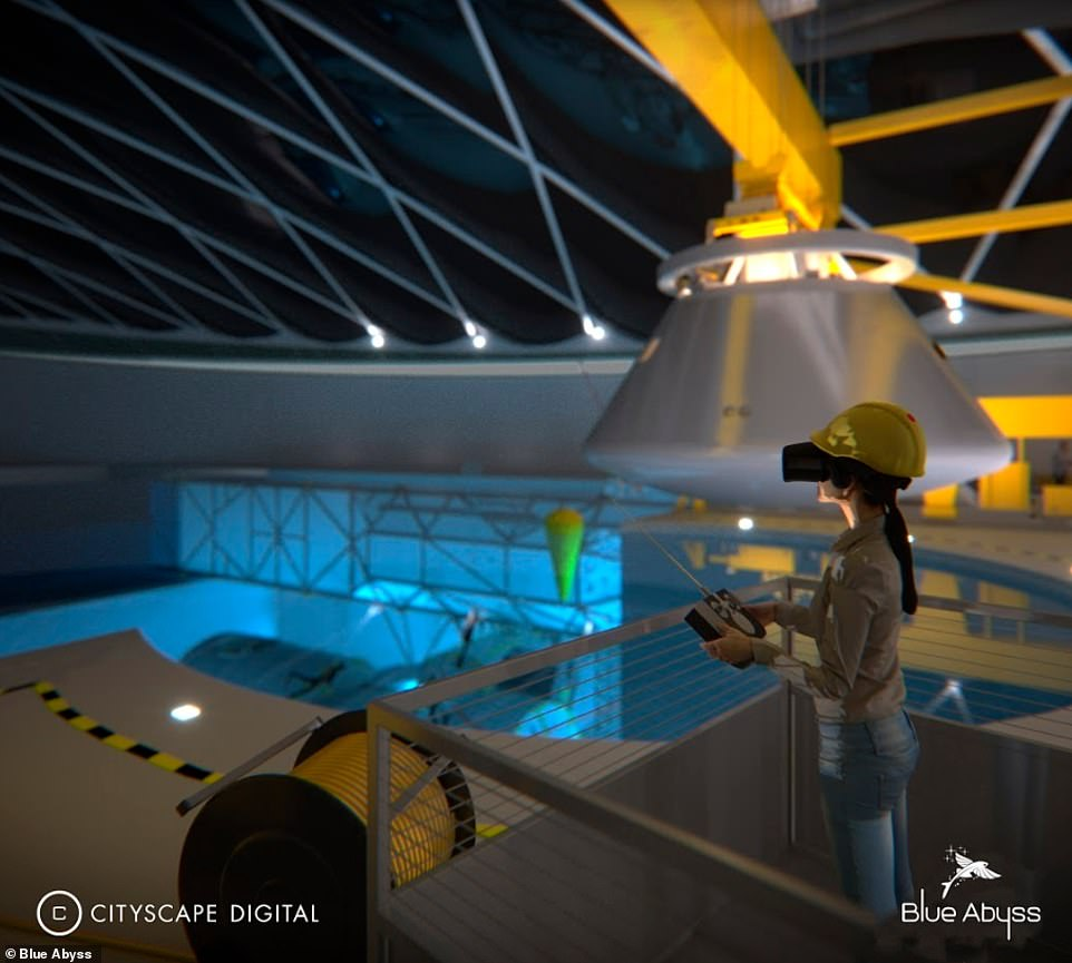 Blue Abyss 'will appeal to a range of markets by simulating extreme environments in a safe and controlled setting and include the world's first commercial astronaut training centre', according to the company