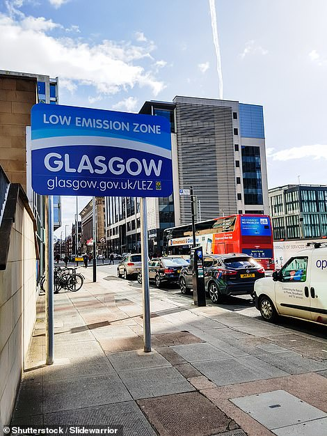 Sign designating the boundary of Glasgow's Low Emission Zone (LEZ) were erected in 2019, though it is unlikely to go live until the middle of 2022