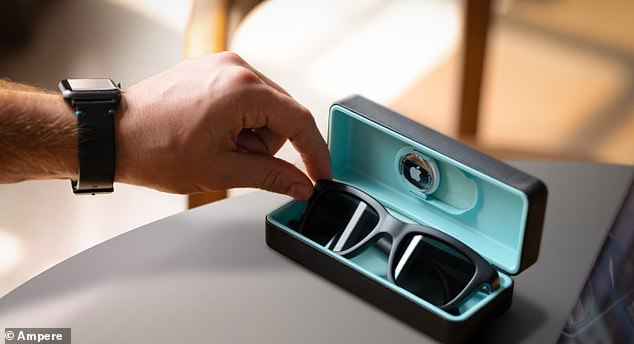 The Duskcharging case has a spot for Apple's AirTag in case you lose it