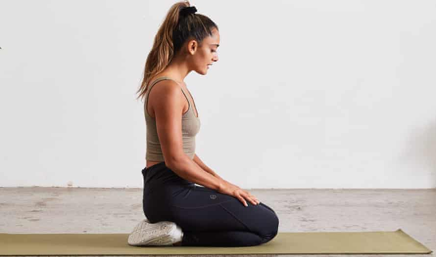 Neck retraction exercise position