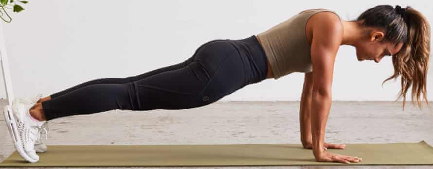 Protraction push-ups exercise position