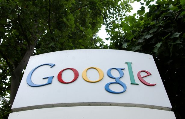 The Google Inc. logo is seen outside their headquarters in Mountain View, California