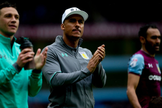 Gabriel Agbonlahor of Aston Villa during the Sky Bet Championship match between Aston Villa and Derby County at Villa Park on April 28, 2018 in Birmingham, England.