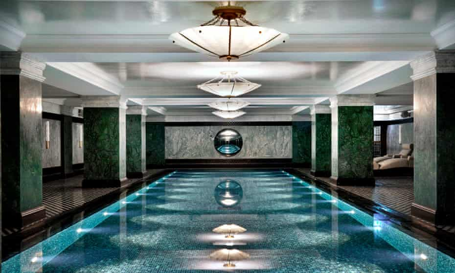 The Ned's stylish subterranean swimming pool.