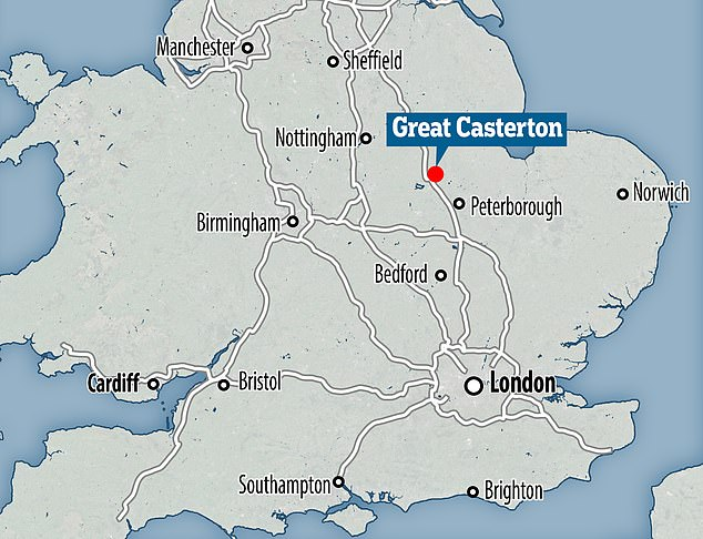 The slave was found by builders working on a home extension in the village of Great Casterton in the county of Rutland