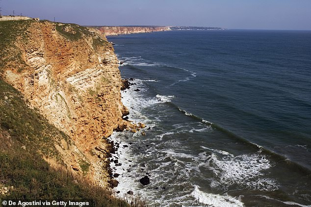 As well as the Black Sea, the Caspian Sea, Aral Sea, Lake Urmia, Namak Lake and others are remnants of the Paratethys. Pictured, cliffs on the promontory of Cape Kaliakra on the Black Sea, Bulgaria