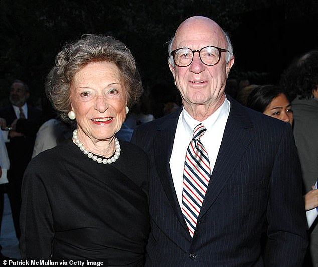 Doris and Donald Fisher, pictured in 2007, launched Gap in 1969 and saw their clothing store in San Francisco soon grow around the world. Since Mr Fisher's death in 2009, the company has endured tougher times, as Forbes estimates the Fisher family lost $1bn last year
