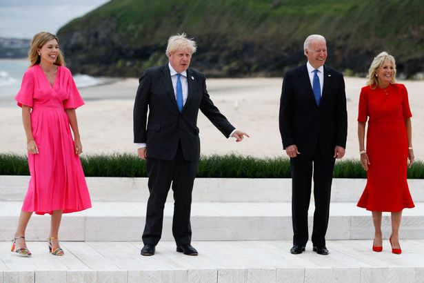 The President shared jokes about walking down the aisle with the Prime Minister
