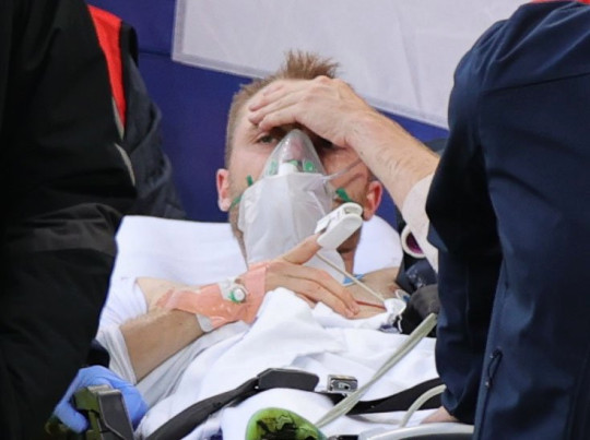 Eriksen was conscious as he left the pitch