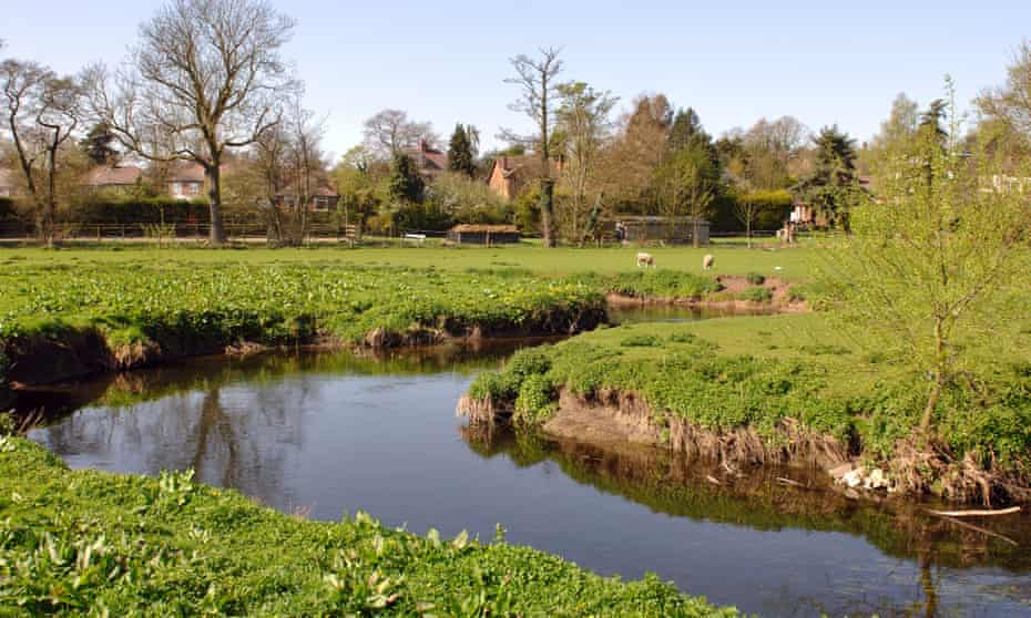 The River Anker in Warwickshire, England, UK