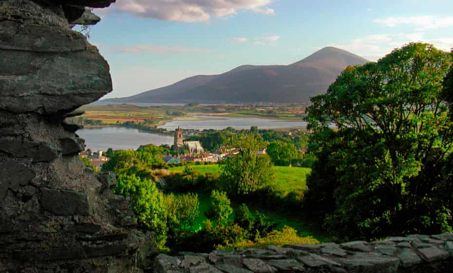 The Mourne Mountains seen from Dundrum Castle.