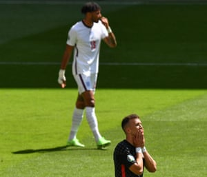 Perisic reacts after a missed chance