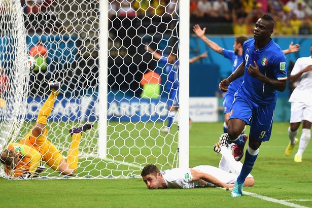 Mario Balotelli scored the decisive goal for Italy against England in World Cup 2014