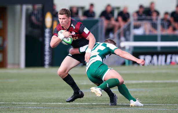 Farrell is scragged by Ealing opposite number Craig Willis