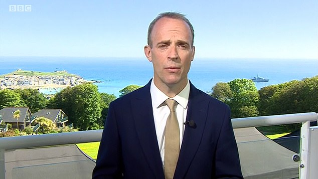 Dominic Raab poured more cold water on June 21 'freedom day' hopes today as he warned that the government will not risk 'yo-yoing' in and out of lockdown