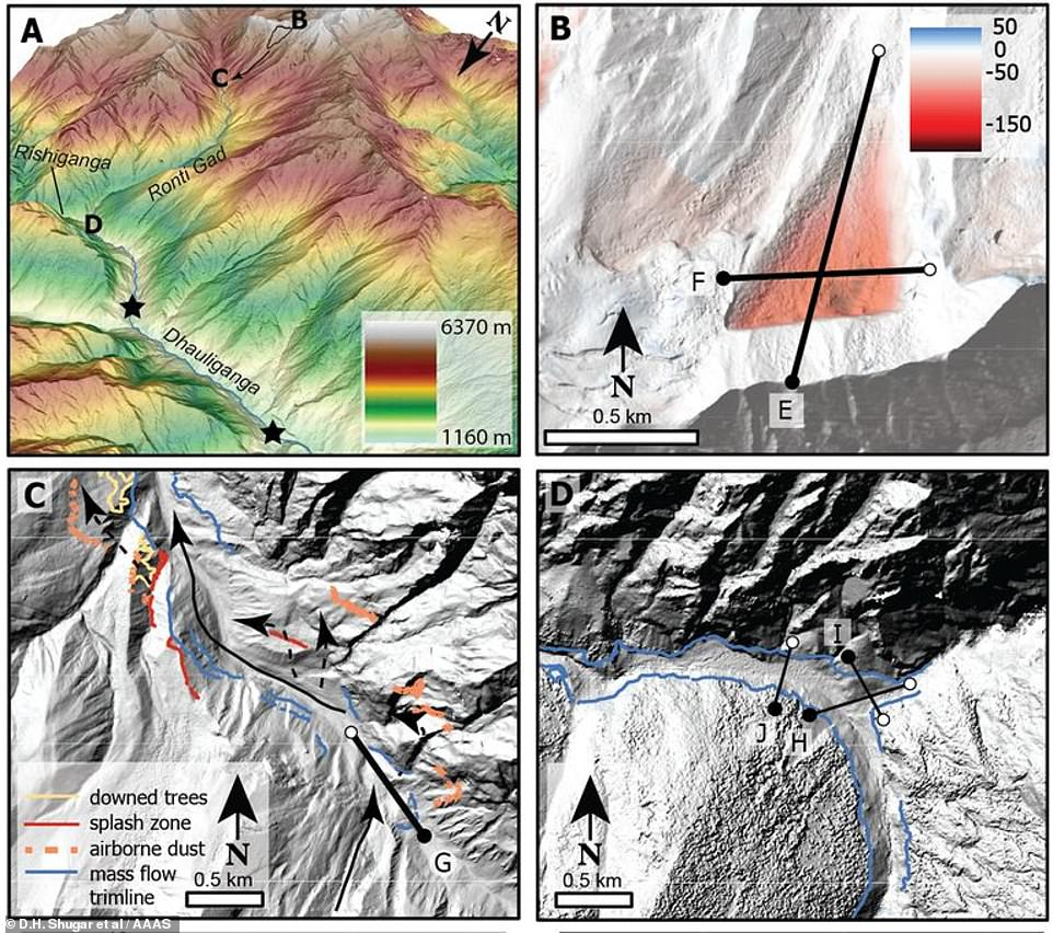 Scale of damage:When the avalanche of debris hit the valley floor it released the energy equivalent to 15 Hiroshima atomic bombs and wiped out everything in its path.The air blast alone flattened 20 hectares of nearby forest