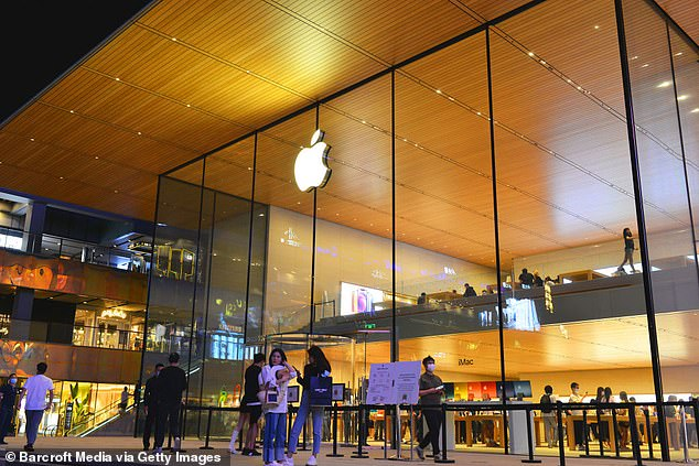 An Apple spokesperson told DailyMail.com the report is full of misinformation and factual inaccuracies, including how the apps become live in certain countries
