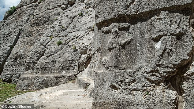 A few miles northeast of the Hittite capital of Hattusa, the rock sanctuary Yazılıkaya lies atop a large limestone outcrop. Inside are two roofless chambers with dozens of carved figures, considered the 'Sistine Chapel' of Hittite religious art