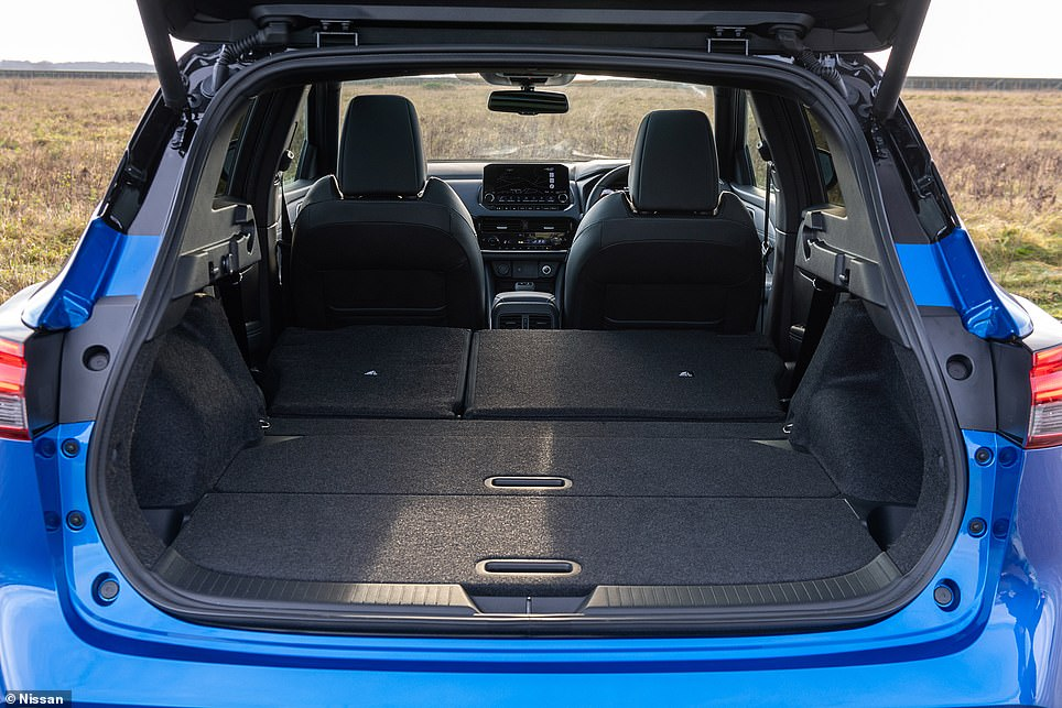 The maximum loading capacity with the back seats in the fixed position is 504 litres - though this will expand significantly with the backrests laid flat