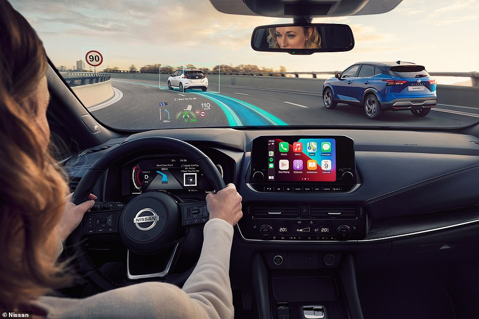 The third-generation Qashqai is packed with technology, including a head-up display and high-definition instrument cluster and large infotainment screen