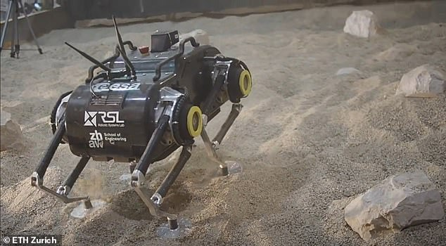 SpaceBok's four legs will allow it to climb over rough terrain and search for signs of life that may have otherwise gone unnoticed