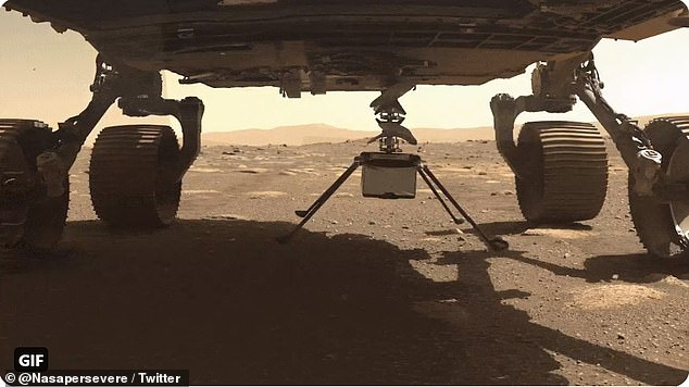 NASA's Perseverance (pictured is the rover and the Ingenuity helicopter) and Curiosity rovers, along with China's Zhurong rover are all currently exploring Mars