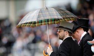 A Scotland football fan at the races?