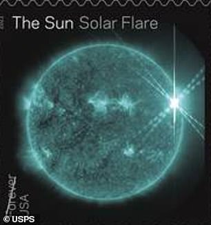 Although they look spectacular on a stamp, solar flares are bursts of light and energy that can disrupt GPS satellites orbiting Earth, or worse, knock out electronics on the planet.