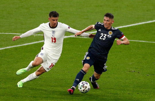 Billy Gilmour impressed at the heart of Scotland's midfield at Wembley