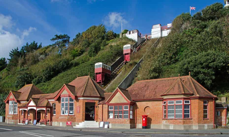 the Leas Lift going up the cliff