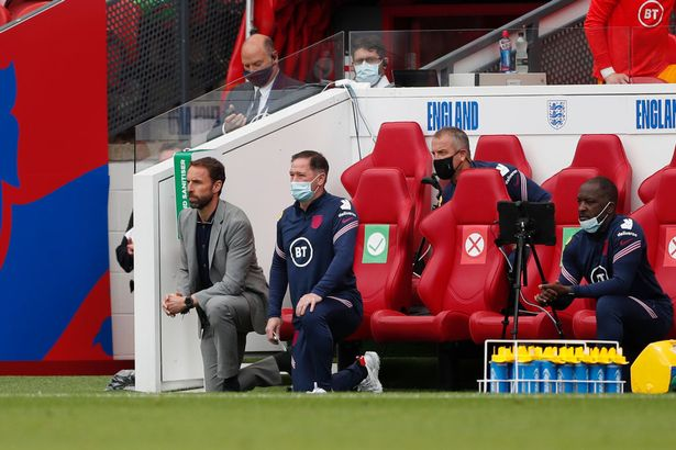 Southgate, his players and the Scotland contingent took the knee before kick-off