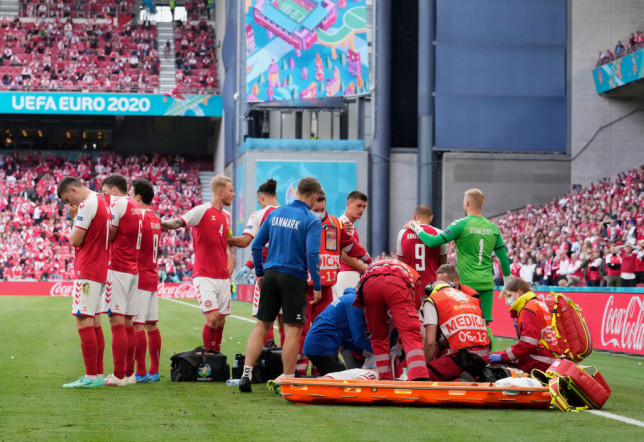 The midfielder collapsed during the game