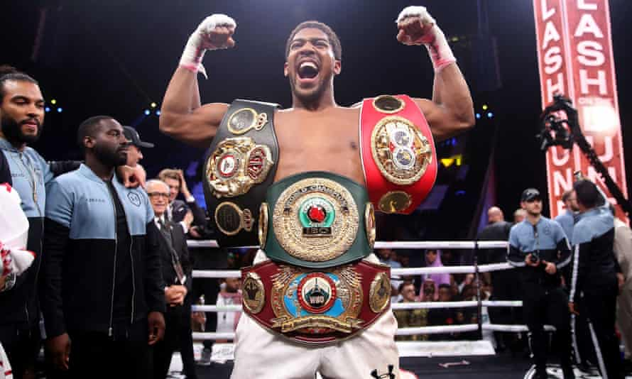 Anthony Joshua fights for Matchroom and Eddie Hearn and is next due to fight Oleksandr Usyk