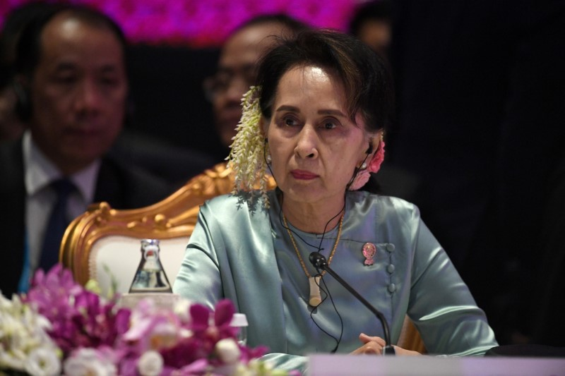 Flower protests in Myanmar for Suu Kyi's 76th birthday