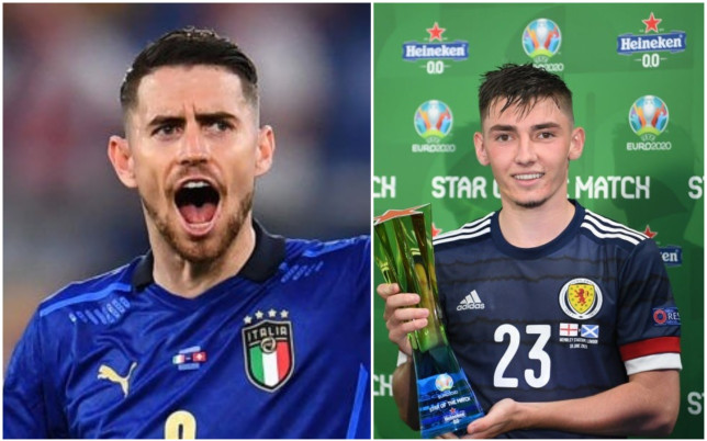 Jorginho praised Billy Gilmour for his performance in Scotland's draw with England