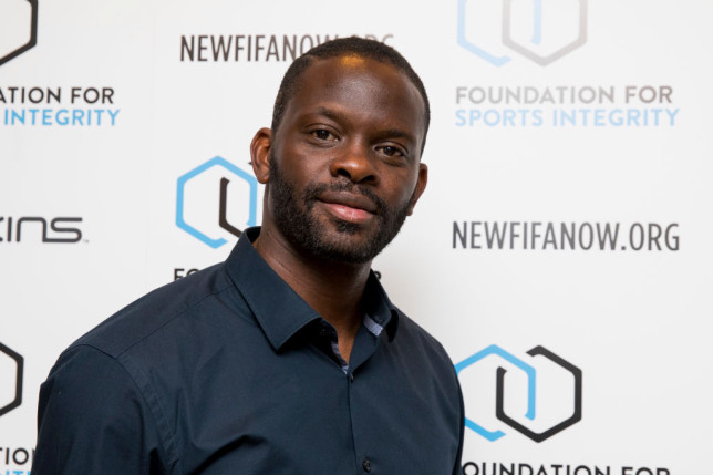 Louis Saha attends The Foundation For Sports Integrity (FFSI) inaugural 'Sports, Politics and Integrity Conference'  at Four Seasons Hotel on May 31, 2018 in London, England.
