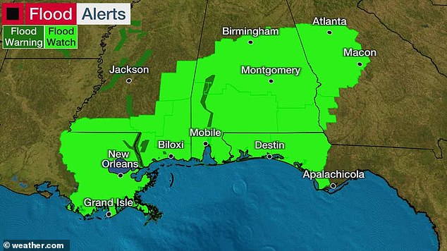 More than 6 million along US Gulf Coast from Intercoastal City, Louisiana to the Florida-Alabama border, are under a tropical storm warning, with 'Tropical Storm Claudette' landfall expected Friday night