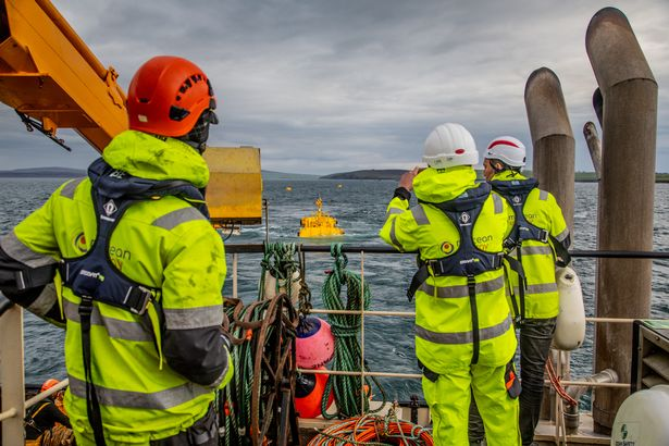 The wave energy prototype begins testing at the European Marine Energy Centre (EMEC) in Orkney