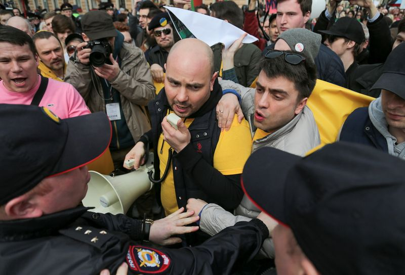 Russian opposition activist taken off flight faces two-month detention