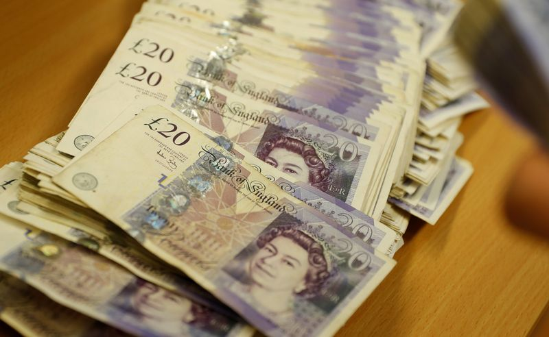 Sterling steadies vs. dollar, set for first weekly loss in five