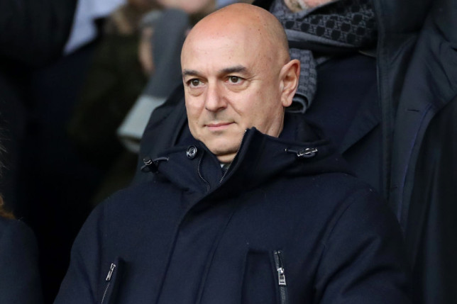 Daniel Levy of Tottenham watches from the stands during the FA Cup match between Southampton and Tottenham Hotspur at St Mary's Stadium, Southampton on Saturday 25th January 2020.