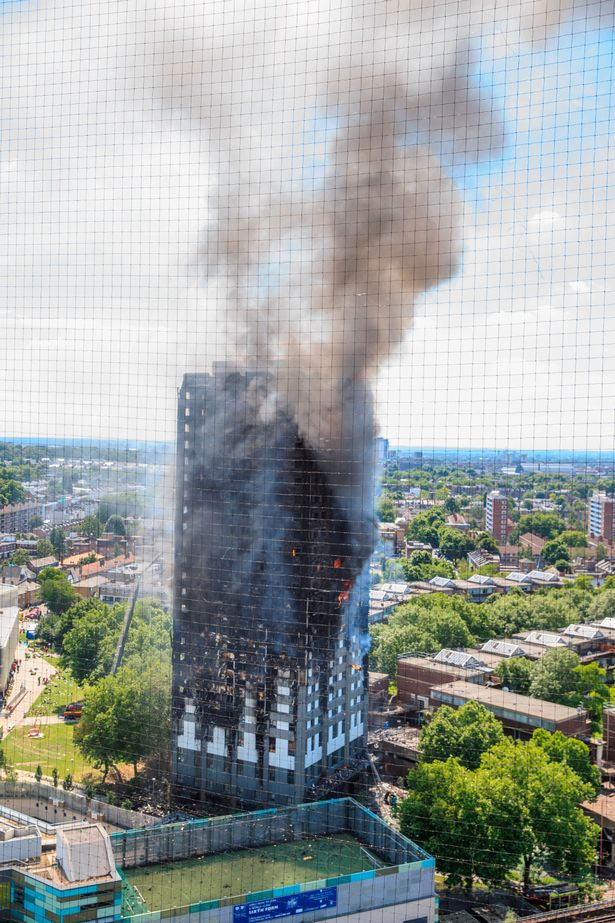 The horrific Grenfell Tower inferno in 2017